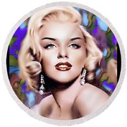 Miss Monroe Round Beach Towel