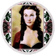 Miss Scarlet Round Beach Towel