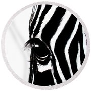 Miss Zebbie Round Beach Towel