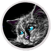 Missing You Round Beach Towel by Alessandro Della Pietra