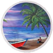 Missing You Round Beach Towel