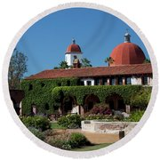 Mission Basilica Round Beach Towel