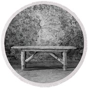 Round Beach Towel featuring the photograph Mission Bench by Tom Singleton