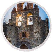 Mission Espada Round Beach Towel