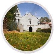 Mission San Diego De Alcala Round Beach Towel
