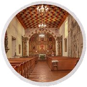 Mission San Francisco De Asis Interior Round Beach Towel
