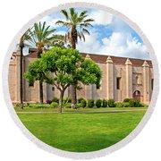 Mission San Gabriel Arcangel, San Gabriel, California Round Beach Towel
