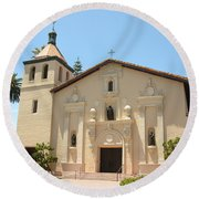 Mission Santa Clara Round Beach Towel