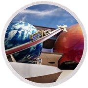 Round Beach Towel featuring the photograph Mission Space by Eduard Moldoveanu