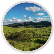 Mission Trails Grasslands Round Beach Towel