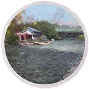 Mississauga Canoe Club Round Beach Towel