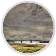 Mississipi River Round Beach Towel