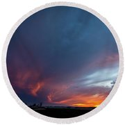 Missouri Sunset Round Beach Towel