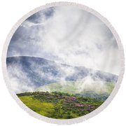 Rhododendrons - Roan Mountain Round Beach Towel
