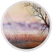 Mist On The River Round Beach Towel by Vesna Martinjak