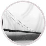 Mist Over Golden Gate Round Beach Towel