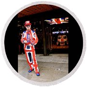 Mister United Kingdom Round Beach Towel
