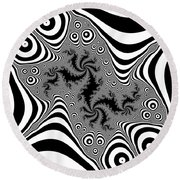 Mistreaded Round Beach Towel