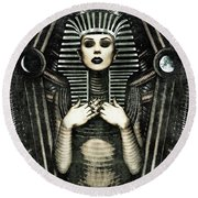 Mistress Of The House Round Beach Towel