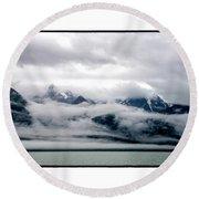 Mists Of Alaska Round Beach Towel