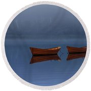 Mists Of Time Round Beach Towel