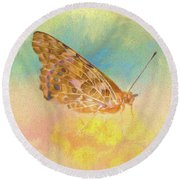 Misty Butterfly Round Beach Towel