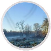 Misty Clearing Round Beach Towel