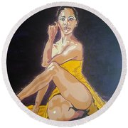 Misty Copeland Round Beach Towel