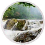 Misty Creek Round Beach Towel