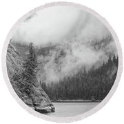 Misty Fjord Round Beach Towel