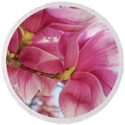 Misty Magnolia Round Beach Towel