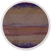 Misty Moisty Landscape Abstraction Round Beach Towel