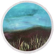 Misty Moors Round Beach Towel by Donna Blackhall