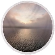 Round Beach Towel featuring the photograph Misty Morning II by Tom Singleton