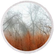 Round Beach Towel featuring the photograph Misty Morning by Raymond Earley