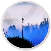 Misty Mountain Hop Round Beach Towel