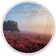 Misty Posbank Round Beach Towel