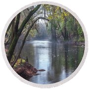 Misty River Round Beach Towel