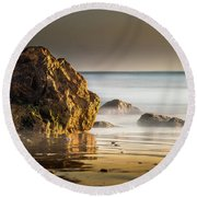 Misty Rock Round Beach Towel