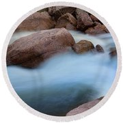 Round Beach Towel featuring the photograph Misty Water by James BO Insogna