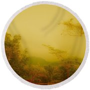 Misty Yellow Hue- El Valle De Anton Round Beach Towel
