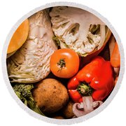 Mixed Vegetable Produce Pack Round Beach Towel by Jorgo Photography - Wall Art Gallery