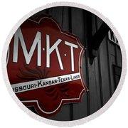 Mkt Railroad Lines Round Beach Towel