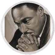 MLK Round Beach Towel