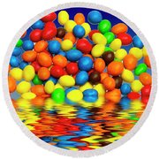 Round Beach Towel featuring the photograph Mm Chocolate Sweets by David French