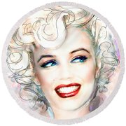 Mmother Of Pearl P Round Beach Towel