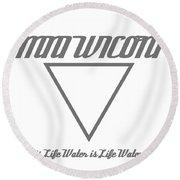 Mni Wiconi Round Beach Towel