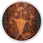 Moab Man Poster Round Beach Towel by Gary Whitton