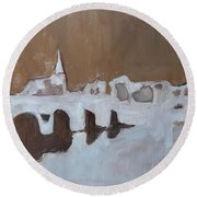 Moasbrogk In Brown Tints Round Beach Towel