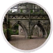 Moat At Inveraray Castle In Argyll Round Beach Towel